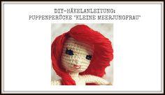 DIY-Crochet-Pattern: Doll's wig inspired by Disney's little mermaid Ariel