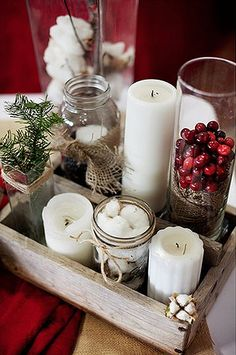 Nonfloral holiday centerpiece