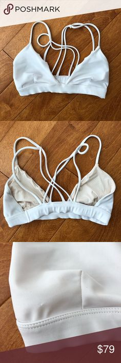 ACACIA swimwear, Awapuhi, White, Small This top is a small but for big breasted girls. I just bought it off another site but the cups are stretched for probably a C or D cup. I'm an A/B. Still tight around the rib cage it's just the cup part/straps. acacia swimwear Swim Bikinis