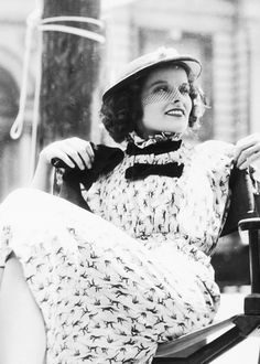 "Katharine Hepburn during the filming of ""Alice Adams"", 1935."