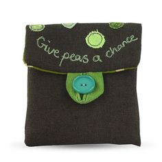 Give Peas a Chance pouch purse by Poppy Treffry