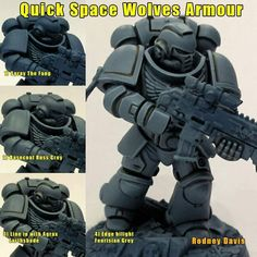 Wolf Painting, Painting Tips, Painting Techniques, Painting Tutorials, Warhammer Paint, Warhammer 40000, Silly Games, Space Wolves, Warhammer 40k Miniatures