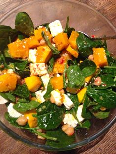 Pumpkin & Chickpea Salad with Lemon Chilli Dressing