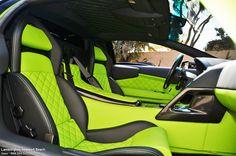 Lamborghini Murcielago LP640 With Acid Green Interior