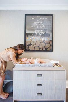 Project Nursery - Vanessa Lachey and Baby Phoenix in Nursery