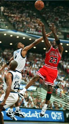 The GOAT, fadeaway, over Penny...in Concords. Doesn't get much better!