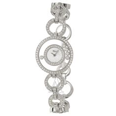 Chopard, Happy Diamonds, Women's Watch, 18K White Gold and Diamonds Case, 18K White Gold and Diamonds Bracelet, Swiss Quartz (Battery-Powered  CHOPARD  Women's Happy Diamonds Watch  207219-1002  YOUR PRICE:	 $33,088.80