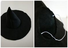 How To: Make a Felt Witch Hat- Pinned by The Mystic's Emporium on Etsy