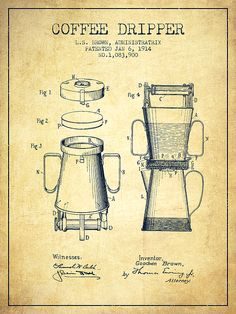 Karl benz builds the worlds first practical automobile to be 1914 coffee dripper patent drawing on vintage background malvernweather Images
