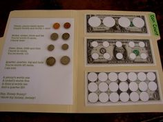 Coin Values file folder game