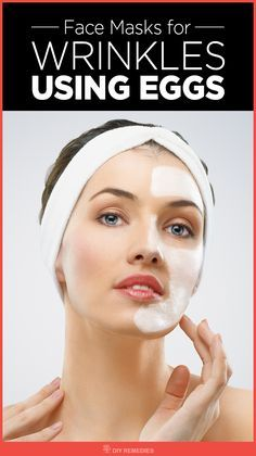 Face Masks for Wrinkles using Eggs Face is the major part that was affected and exposed to the public. So, the face mask is one best way to tighten your skin and delays the signs of aging. an Egg is the best remedy that strikes for almost all of us while thinking about skin tightening and shrinking the pores. #Wrinkles #FaceMask #EggFaceMask