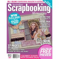 Australian Scrapbooking Memories – Volume14 No.10 Australia's number one scrapbooking magazine, Scrapbooking Memories is the ultimate resource for all your scrapbooking needs. With its large, glossy, coffee-table format, Scrapbooking Memories ensures readers are always informed of the hottest trends, latest-release products, innovative photography ideas, time saving tips and more.