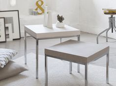 Un aspect beton cire pour ma table image Style Deco, Ikea Hack, Dining Bench, Sweet Home, Cool Stuff, Furniture, Design, Home Decor, Deco Cool