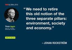 Johan Rockström quoted at TEDGlobal 2013 / Photo: James Duncan Davidson