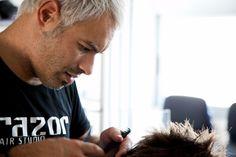 Κομμωτήριο razor Hair Studio, Hairstyle, Hair Job, Hair Style, Hair Looks, Hair Styles, Haircuts, Hairstyles, Hairdos