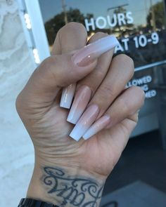 Attractive long nails anyone? Here's a presentation of our 50 beautiful acrylic nail designs that are spot on for every season! Long Square Acrylic Nails, Best Acrylic Nails, Acrylic Nail Designs, Long Square Nails, Clear Acrylic, Aycrlic Nails, Glam Nails, Hair And Nails, Coffin Nails