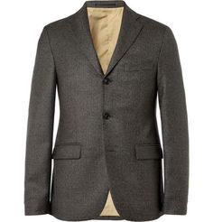 Acne Studios Drifter Slim-Fit Check Wool Blazer | MR PORTER