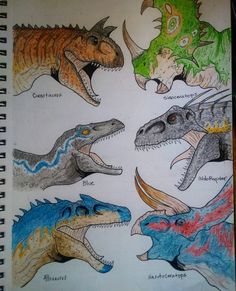 Blue Jurassic World, Jurassic World Dinosaurs, Jurassic World Fallen Kingdom, Dinosaur Time, Dinosaur Art, Cute Dinosaur, Dinosaur Sketch, Dinosaur Drawing, Jurassic World Wallpaper