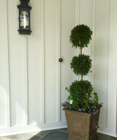 T-MG three tier topiary with purple and white accents