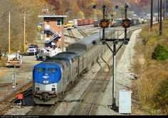 RailPictures.Net Photo: AMTK 179 Amtrak GE P42DC at Cumberland, Maryland by BNSF ES44DC