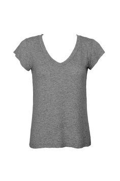 T-shirt V Cinza Escuro