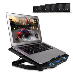 TopMate inch Gaming Laptop Cooler, Five Quite Fans and LCD Strong Wind Speed Designed for Gamers and Office Refurbished Laptops, Laptop Cooler, Laptop Cooling Pad, Video Game Rooms, Blue Led Lights, Gaming Accessories, Laptop Computers, Computer Laptop, Fans