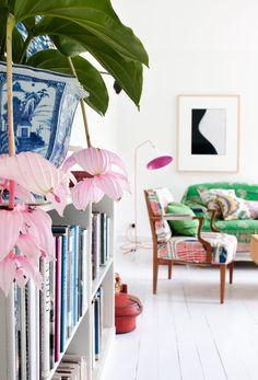 Interieurs met fleur