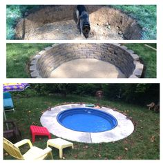 I plan to do this with a smaller stock tank for the pups. Mini-pool build using a stock tank from Tractor Supply. Then take it out in colder months & have a fire pit! Dog Swimming Pools, Dog Pools, Living Pool, Simple Pool, Outdoor Projects, Outdoor Decor, Outdoor Fire, Stock Tank Pool, Mini Pool