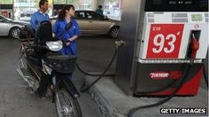 China cuts fuel prices again as economic slowdown bites.  China's price-control body, the NDRC, is reducing petrol and diesel prices by 5% from Saturday.    The second cut in a month reflects sharp falls in world crude oil prices.   10/6/12