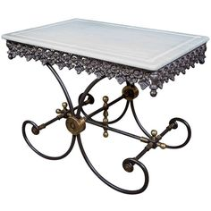 Small French Butcher Pastry Table