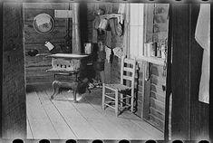 Kitchen in house of Floyd Burroughs, sharecropper, near Moundville, Hale County, Alabama. Summer 1936. Photographer: Walker Evans.