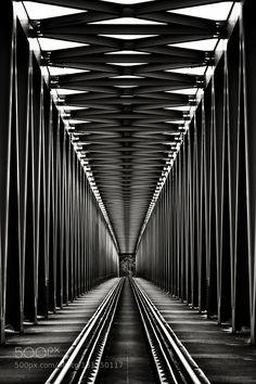 Railway bridge in B&W by jonasgabor. Please Like http://fb.me/go4photos and Follow @go4fotos Thank You. :-)