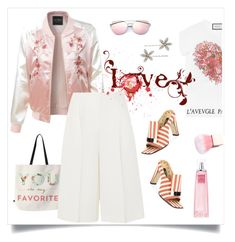 """""""love  spring"""" by tato-eleni ❤ liked on Polyvore featuring DENY Designs, LE3NO, Gucci, Sergio Rossi, Valentino, Givenchy and Jennifer Behr"""