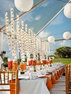 Outdoor wedding decor | by michelle garibay events