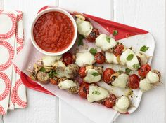 Kids Can Make: Pizza Skewers recipe from Food Network Kitchen via Food Network