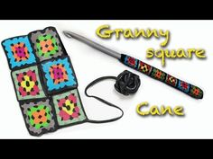DIY Fimo Granny square crochet decoration - Polymer clay cane - YouTube