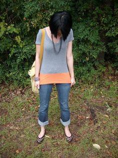 Zu kurzes T-Shirt verlängern