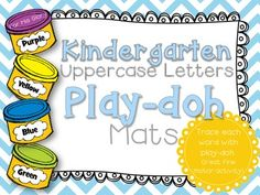 Each play-doh mat contains an individual letter (uppercase). Students use play-doh to trace each letter. This is a great fine motor activity. Works well as a center activity, too! %0A%0AEnjoy! %0ACreated by: For His Glory