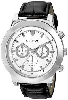 Geneva Men's 2417G-GEN Analog Display Analog Quartz Black Watch - http://yourperfectwatch.com/geneva-mens-2417g-gen-analog-display-analog-quartz-black-watch/