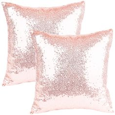 Ushinemi Square Pillow Covers, Glitter Throw Pillow Covers, Rose Gold Sequin Throw Pillow Cases, Premium Metallic Throw Pillow Cover for Sofa Couch Home Festivals Decorations, 16 by 16 in, Pack of 2 #CuteGiftIdeas #Gift #ThrowPillow #PillowCase Gold Pillows, Diy Pillows, Throw Pillow Cases, Throw Pillows, Square Pillow Covers, Rose Gold Decor, Sequin Pillow, Sofa, Couch