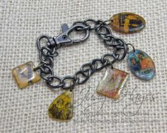 Great how to make a bracelet with shrinky plastic and different techniques. endless ideas!