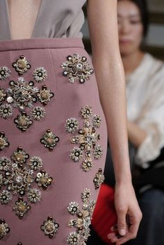 miu miu, fall '09, skirt detail.