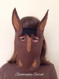 Kids Horse Mask Handmade Childrens Childs Dress Up Kids Horse Costume, Horse Halloween Costumes, Nativity Costumes, Animal Costumes, Diy Costumes, Halloween Kids, Halloween 2019, Farm Clothes, Horse Mask