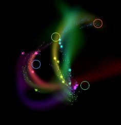 an interactive flash animation. see it here:  http://tintone.com/blog/2012/rings-and-trails-an-interactive-flash-animation/