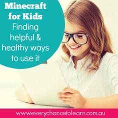 Minecraft for children- finding healthy & helpful ways to use it. Mind Body Spirit, Minecraft, Parents, Age, Digital, Children, Healthy, Boys, Dads