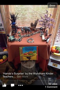 handas Surprise- Small world, invitation to play. Handas Surprise, Surprise Ideas, Preschool Jungle, Rumble In The Jungle, Family Day Care, African Theme, Small World Play, Learning Spaces, Play To Learn
