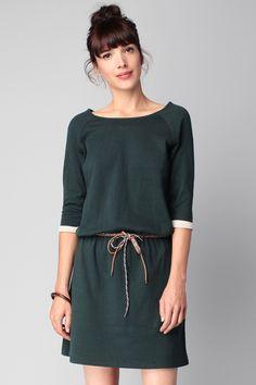 Robe verte coton Sister Ships Sessun sur MonShowroom.com