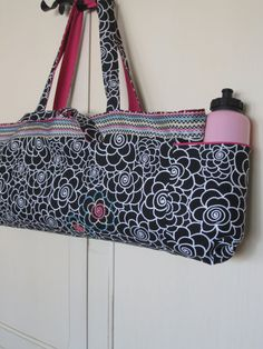 Reversible Yoga Mat Bag by CMarieAndCo on Etsy, $64.00
