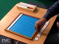 Montessori Hundred Board - Basic exercise (number placement) - YouTube