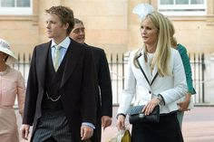 Lady Melissa Percy, right, daughter of the Duke of Northumberland. To the left, Hugh Grosvenor, Earl Grosvenor, heir to the 6th Duke of Weste, Gerald, who is behind him